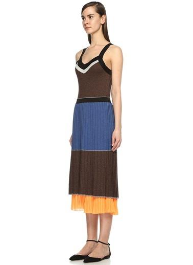 Asklı Altı Pliseli Triko Elbise-Beymen Club